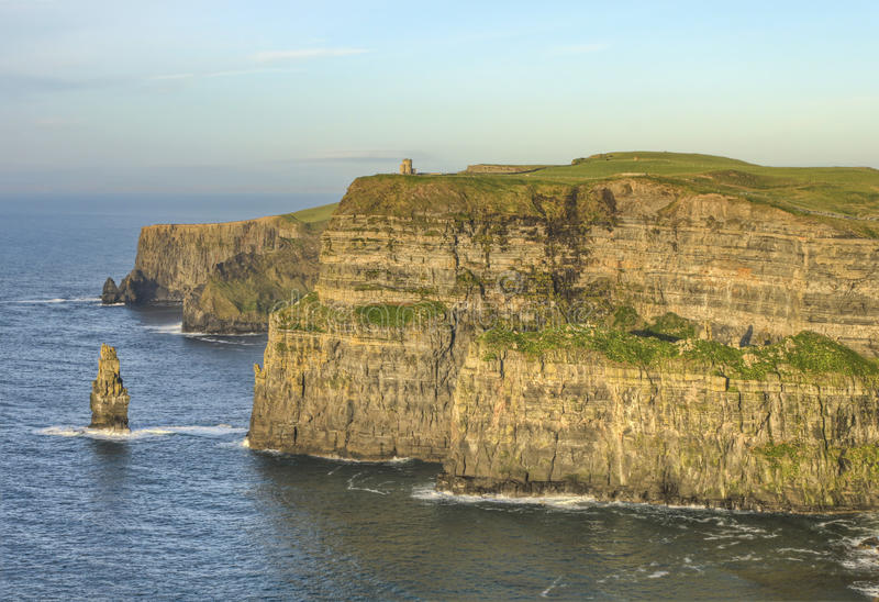 O Brien S Tower On Cliffs Of Moher In Ireland. Stock Photos