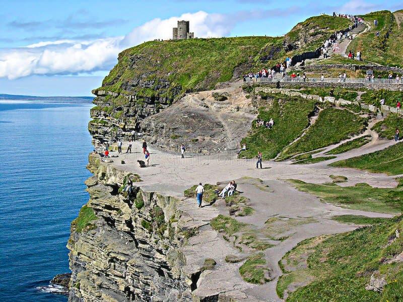 O ` Brien ` s wierza w falezach Moher, okręg administracyjny Clare, Irlandia obrazy stock