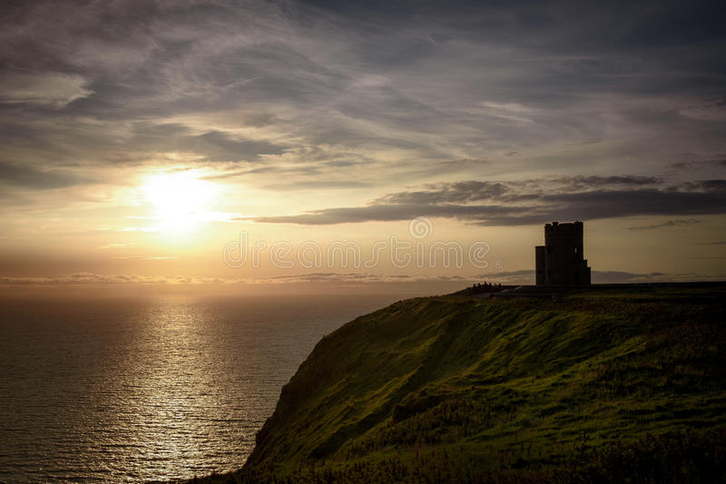 O'Brien Tower at the Cliffs of Moher royalty free stock image