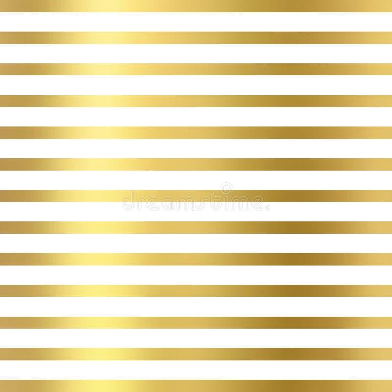 O brilho alinha geométrico no fundo branco, textura do ouro O brilho alinha o teste padrão Papel de parede geométrico do brilho ilustração stock
