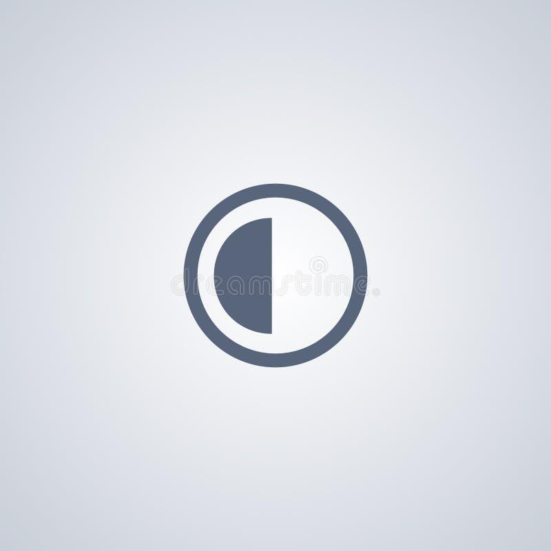 O brilho e o contraste, vector o melhor ícone liso ilustração stock