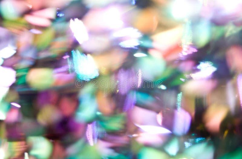 O brilho ilumina fundo defocused do bokeh foto de stock