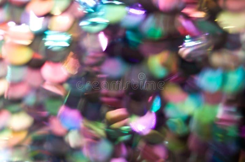 O brilho ilumina fundo defocused do bokeh foto de stock royalty free