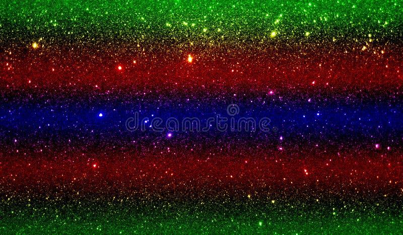 O brilho textured o azul amarelo vermelho e o papel de parede protegido preto do fundo foto de stock royalty free