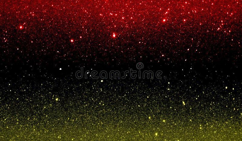 O brilho textured o papel de parede protegido amarelo e preto vermelho do fundo foto de stock