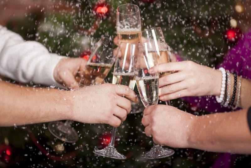 O brinde de ano novo do Natal fotografia de stock