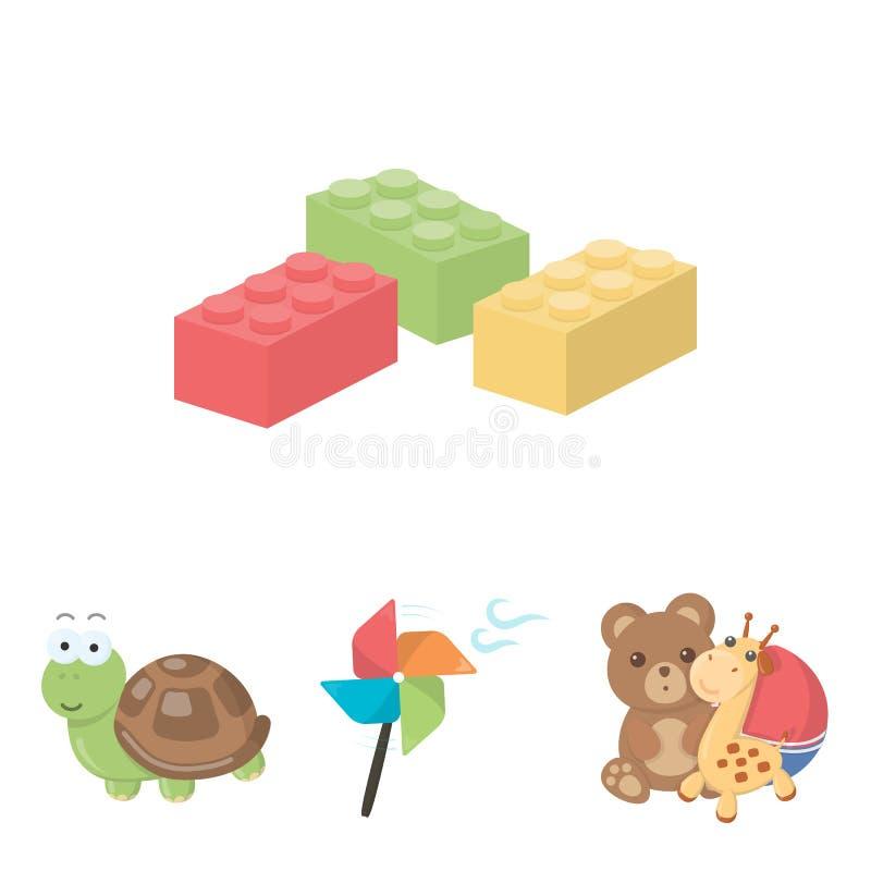 o brinquedo relacionou o grupo do ícone ilustração do vetor