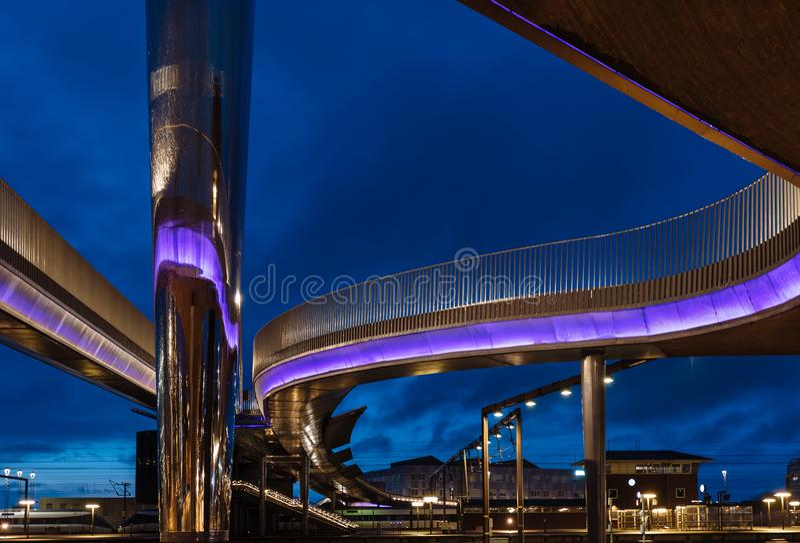 O bro de Byens da ponte da cidade em Odense, Dinamarca imagem de stock