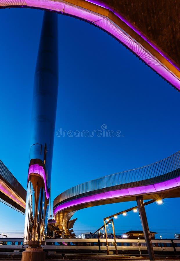O bro de Byens da ponte da cidade em Odense, Dinamarca imagem de stock royalty free