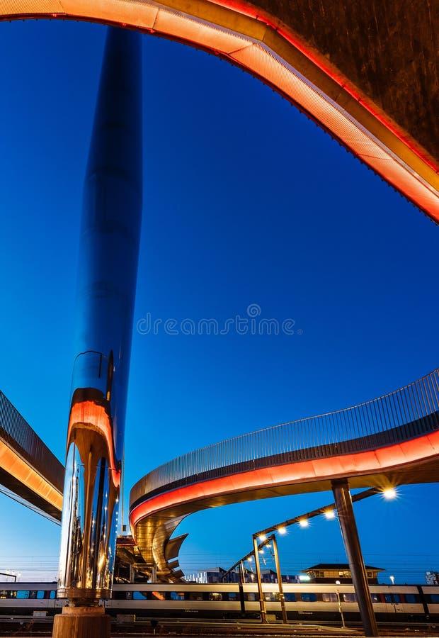 O bro de Byens da ponte da cidade em Odense, Dinamarca foto de stock royalty free