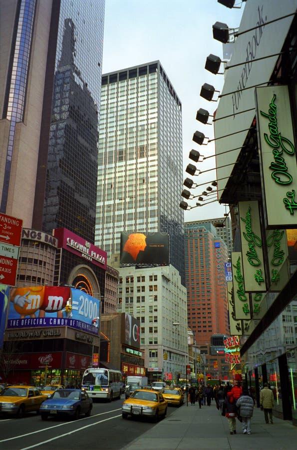 O Broadway, New York, EUA fotografia de stock