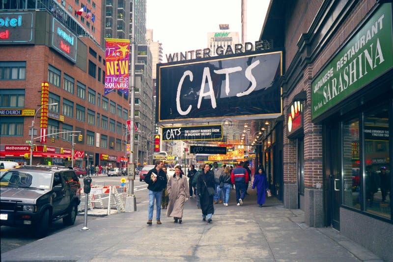 O Broadway, New York, EUA fotografia de stock royalty free