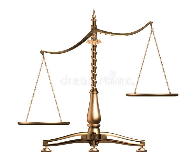 O bronze escala o conceito 3D isolado no branco ilustração do vetor
