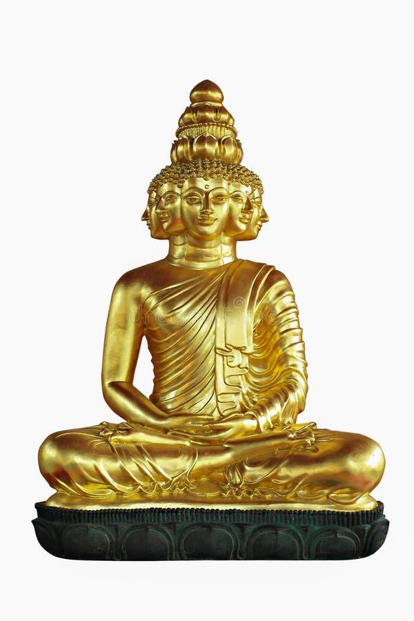 O buddha dourado isolou-se fotografia de stock