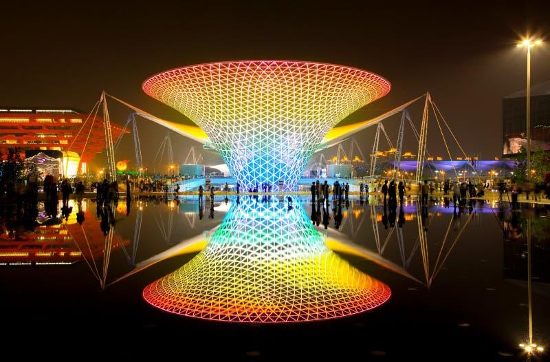 O bulevar da expo na expo do mundo em Shanghai imagem de stock