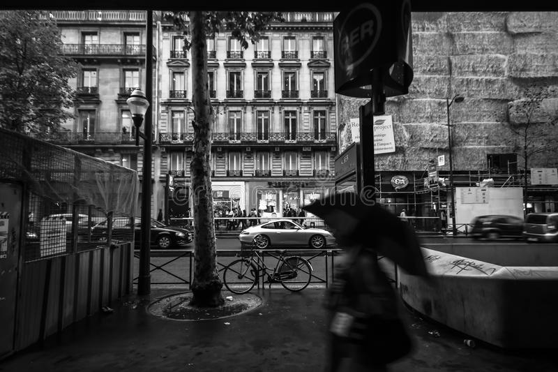 O bulevar Haussmann foto de stock royalty free