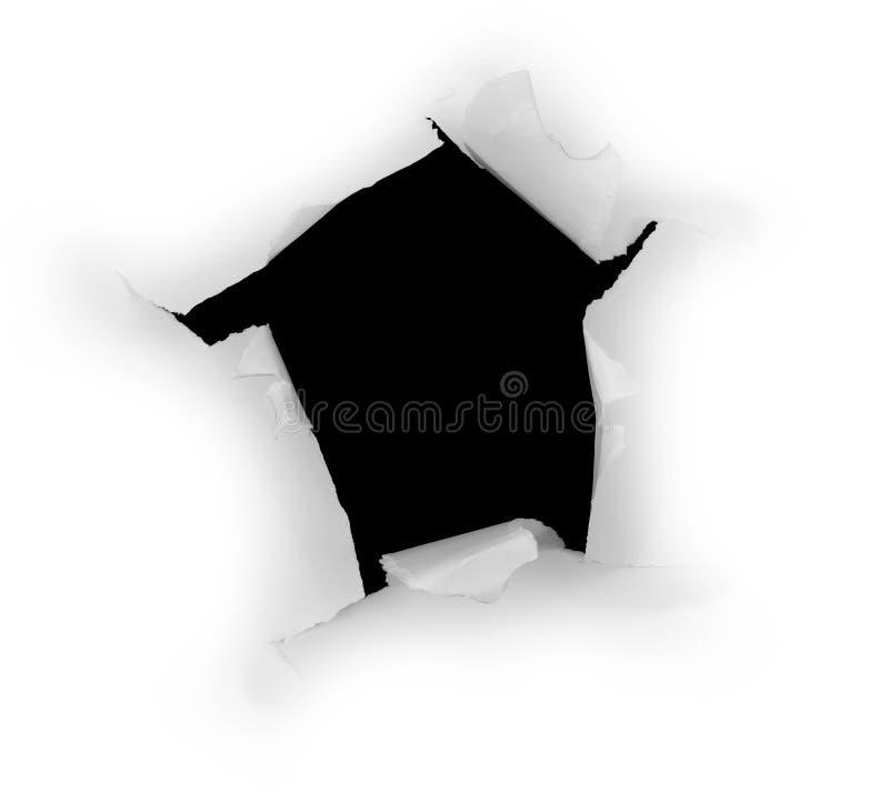 O buraco negro imagens de stock