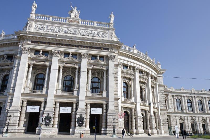 O Burgtheater em Viena fotografia de stock