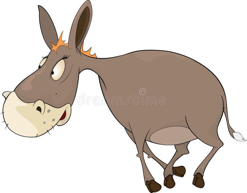 O burro pequeno. Desenhos animados ilustração royalty free
