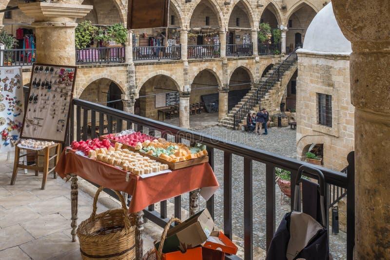 O Buyuk Khan, Nicosia, Chipre imagem de stock