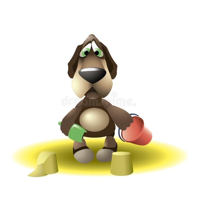 O cão o menor ilustração royalty free
