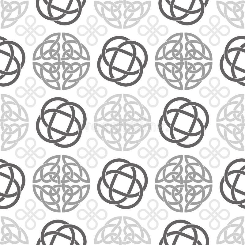 O céltico ata o teste padrão sem emenda do papel de parede ilustração stock