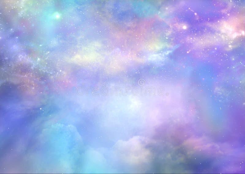 O céu é verdadeiramente além de bonito ilustração stock
