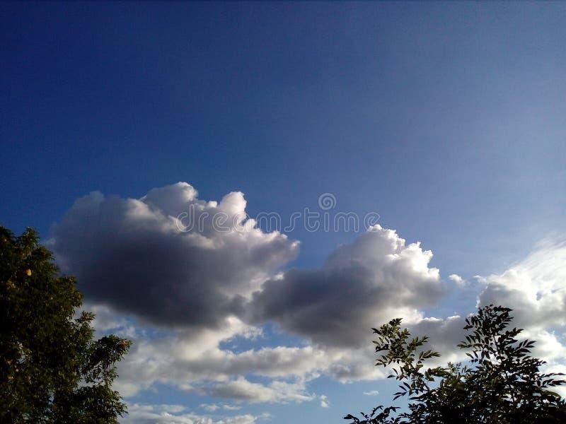 O céu combinado com a natureza fotografia de stock