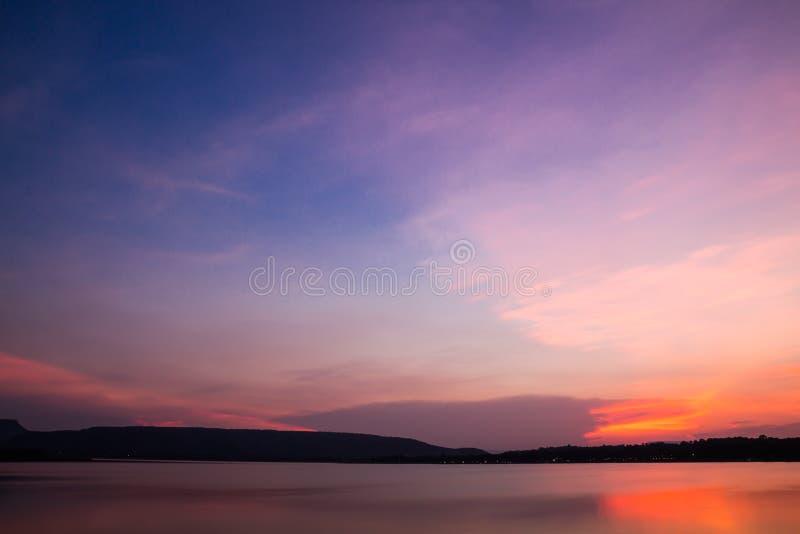 O céu da noite foto de stock