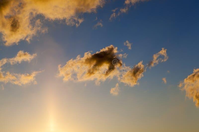 O céu durante o por do sol imagem de stock royalty free