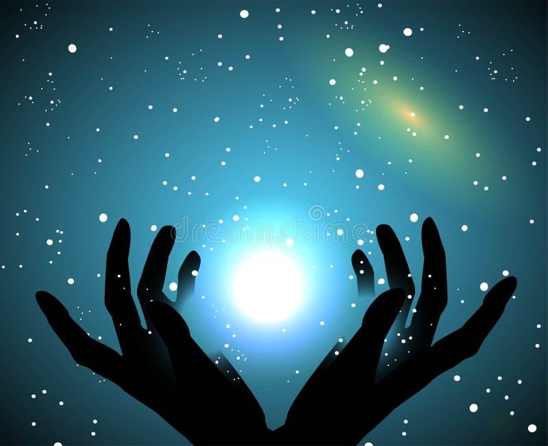 O céu e as estrelas ilustração do vetor