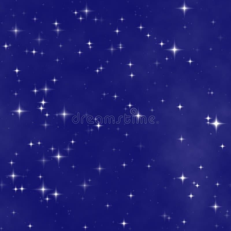 O céu nocturno da estrela ilustração do vetor