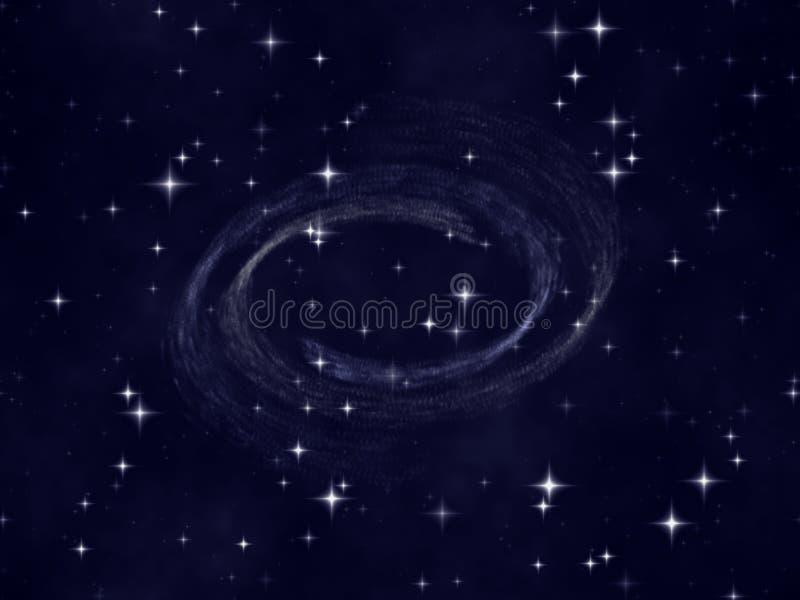 O céu nocturno da estrela ilustração royalty free