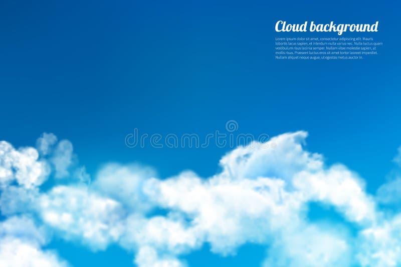 O céu nubla-se o fundo ilustração do vetor