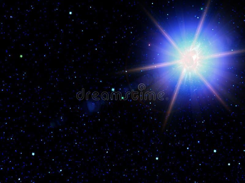 O céu stars a constelação ilustração do vetor