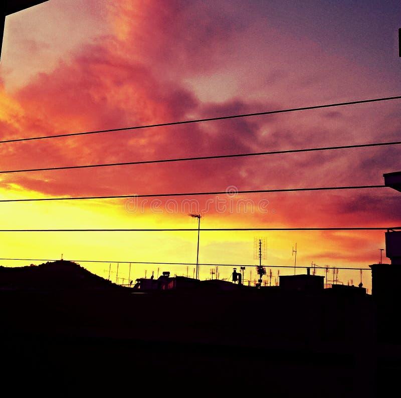 O céu surpreendente foto de stock