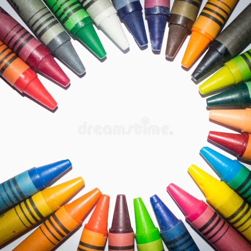 O círculo arranjou cores e cores pastel foto de stock royalty free