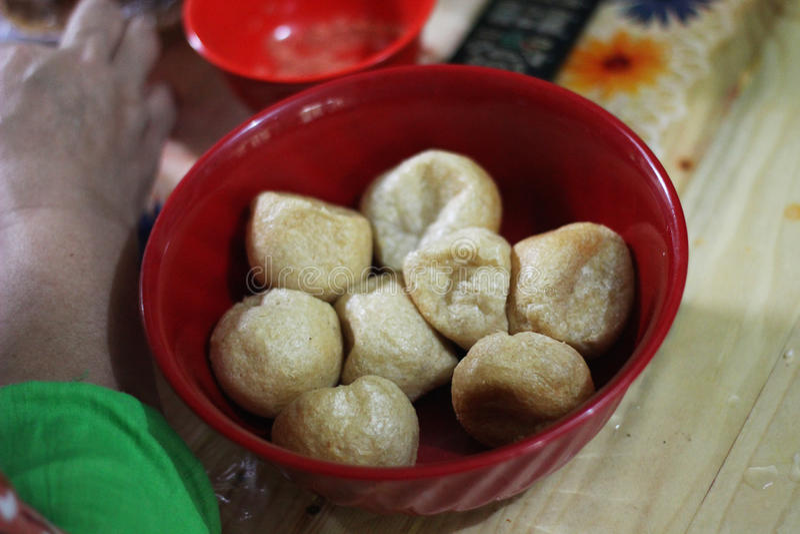 O círculo Fried Tofu imagem de stock royalty free