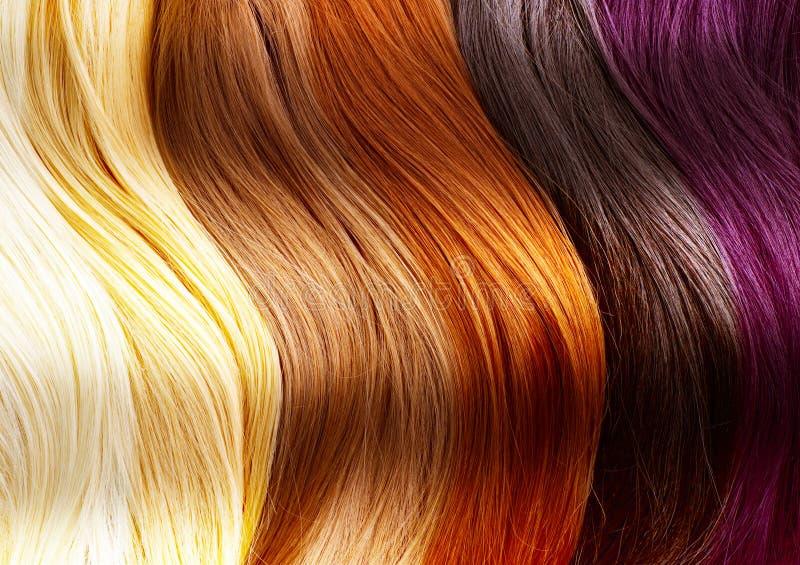 O cabelo colore a paleta fotografia de stock royalty free