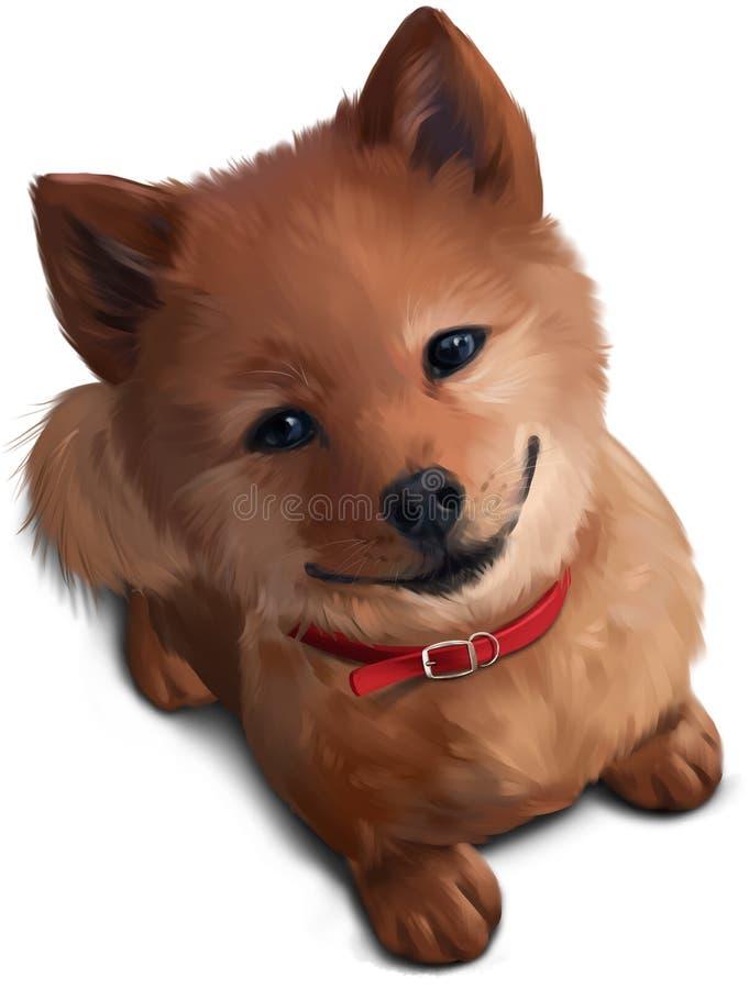 O cachorrinho Shiba Inu ilustração do vetor