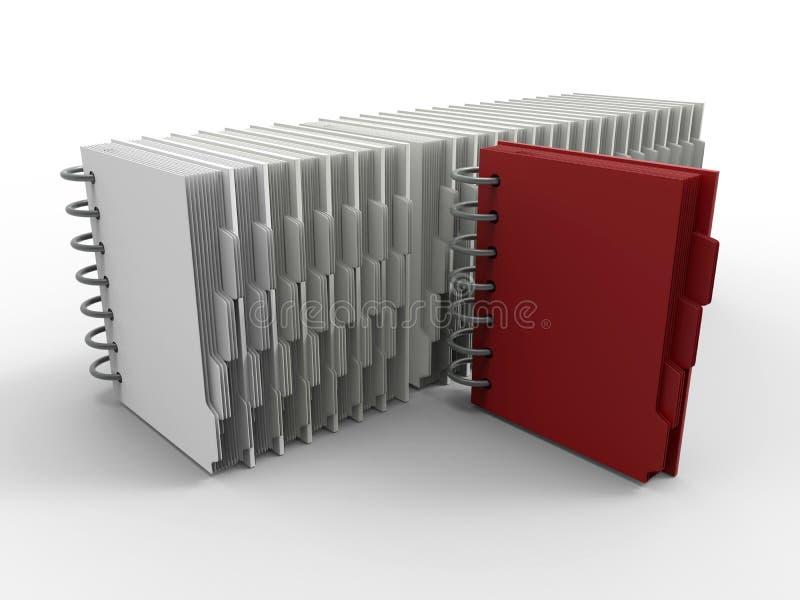 Download O Caderno Identifica O Conceito Ilustração Stock - Ilustração de cadernos, vermelho: 65575974