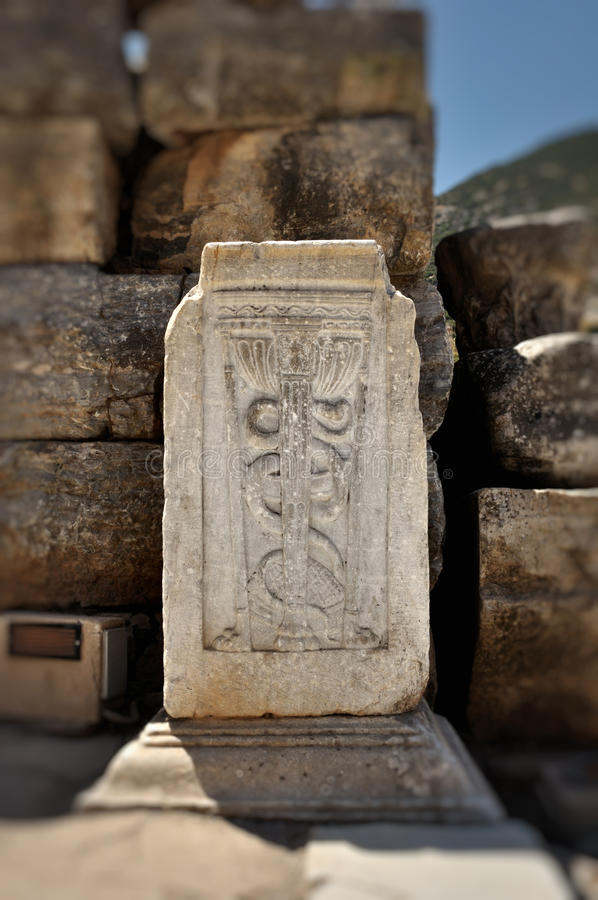 O Caduceus, símbolo universal da medicina fotos de stock royalty free