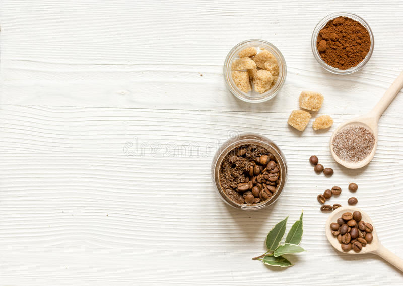 Download O Café-açúcar Caseiro Esfrega O Fundo De Madeira Da Vista Superior Foto de Stock - Imagem de casca, banho: 80101988