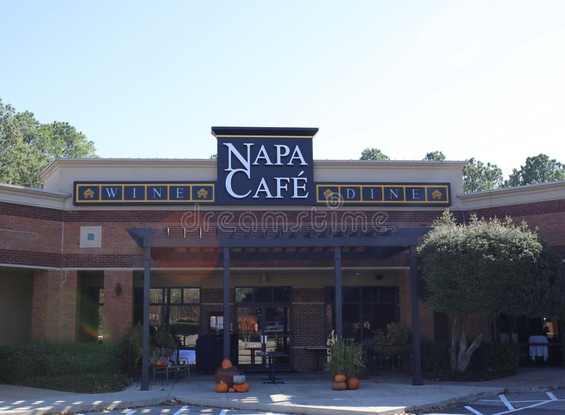 O café de Napa, vinho e janta, Memphis, TN imagens de stock