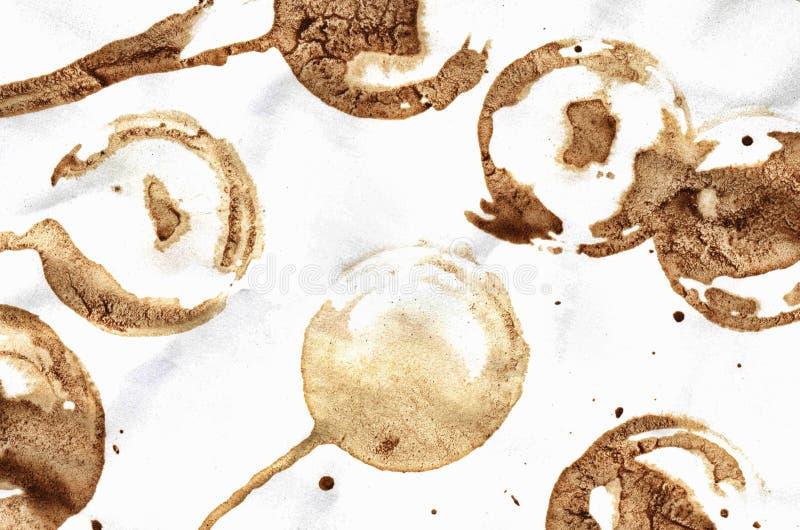 O café do chá mancha a coleção da colagem imagens de stock royalty free