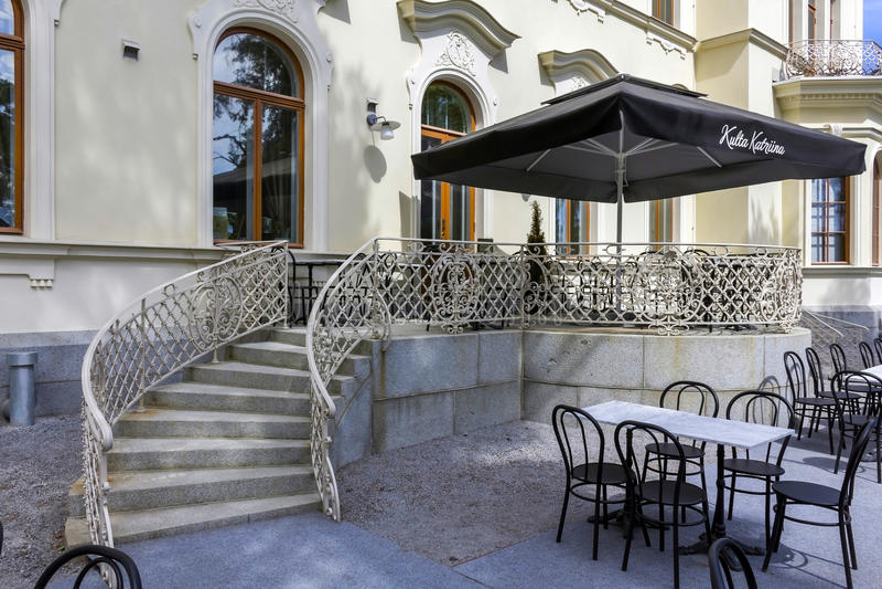 O café do museu foto de stock