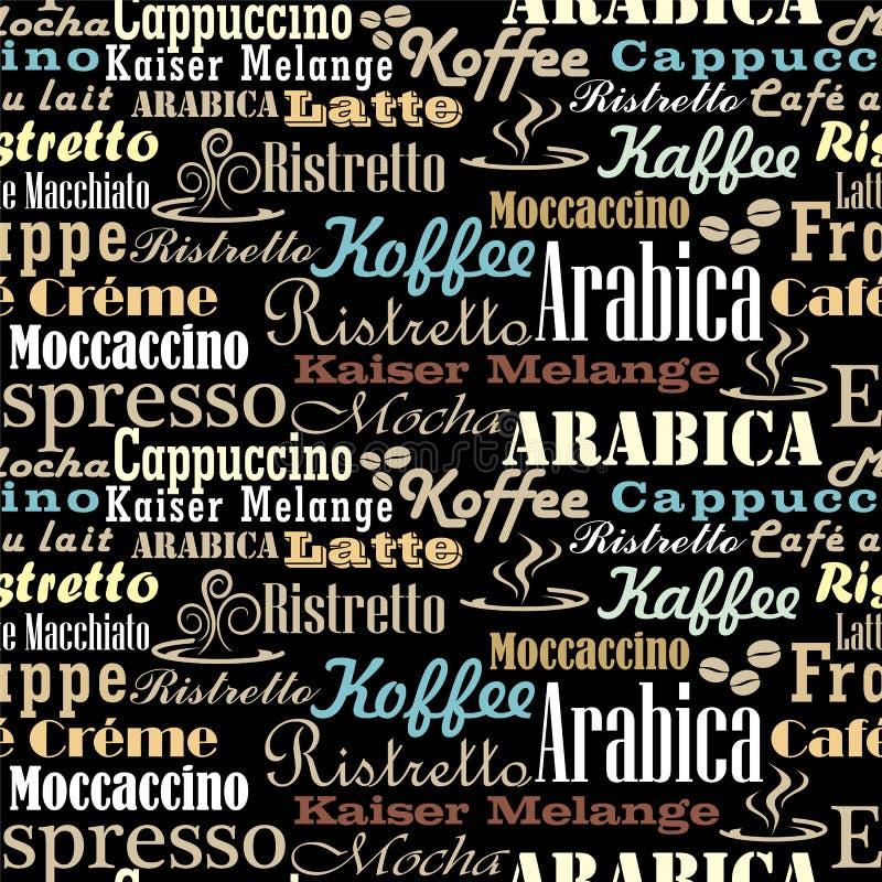 O café exprime o teste padrão sem emenda ilustração stock