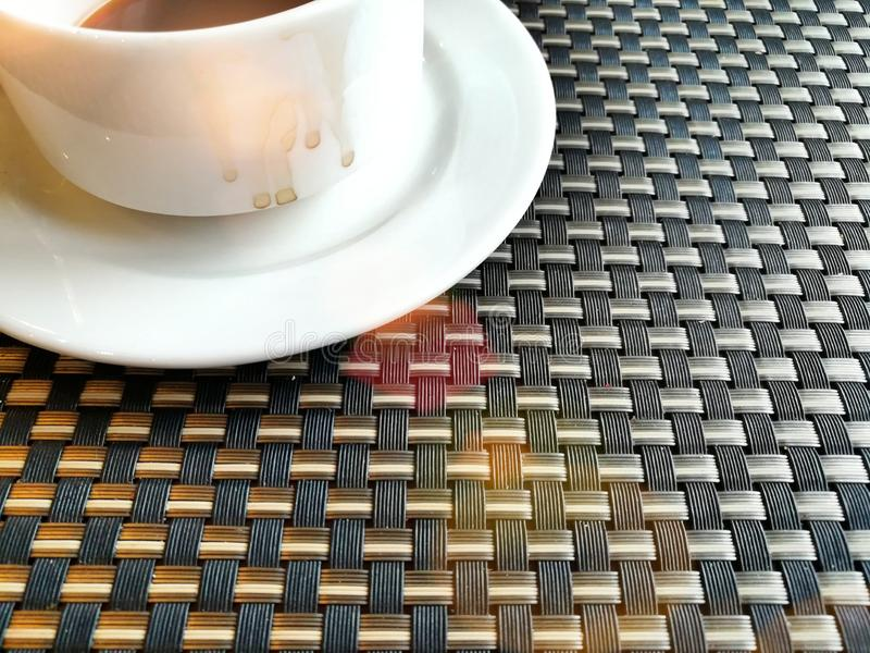 O café preto e relaxa o tempo fotografia de stock royalty free