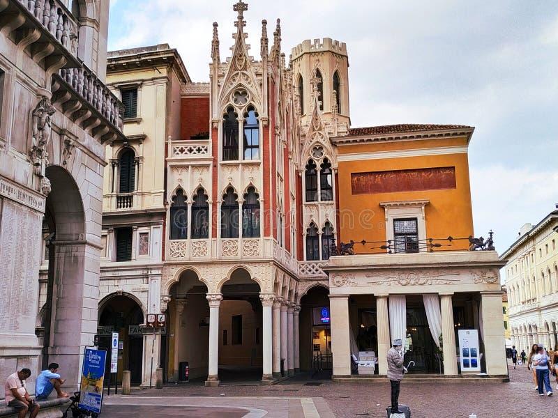 O Caffè Pedrocchi 'Itália de Pádua ' imagem de stock royalty free