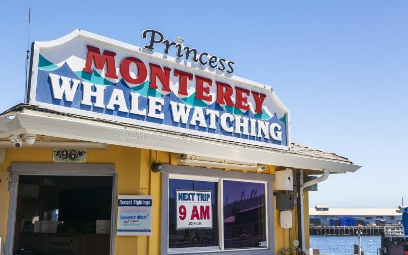 O cais do pescador, baía de Monterey, península, Monterey, Oceano Pacífico, Califórnia, Estados Unidos da América, America do Nor foto de stock royalty free